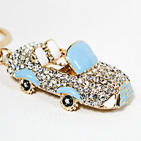 Rhinestone Sports Car Keychain Pendant