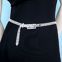 Three Line Crystal Rhinestone Belt