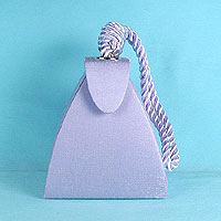 Triangle Evening Bag Handle Purse with Cord Handle