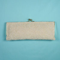 Small Faux Pearl Beaded Purse