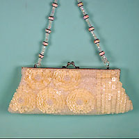 Beaded and Sequined Clutch Evening Bag