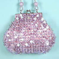 Beaded sequined purse