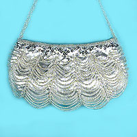Looped Beaded Evening Bag or Prom Purse