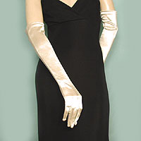 Above the Elbow Satin Stretch Gloves