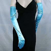 Long Satin Stretch Opera Gloves for Proms & Formal Events, Over 40 Colors