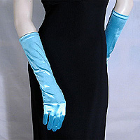 Satin Stretch Gloves Below the Elbow