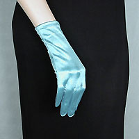 Wrist Length Satin Stretch Gloves