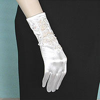 Embroidered Beaded Wrist Gloves