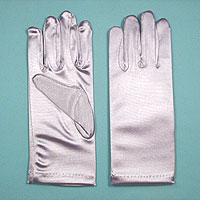 Wrist Satin Stretch Gloves for Children, Ages 7-14