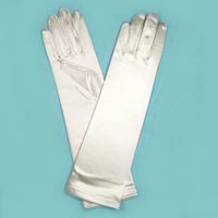Long Satin Stretch Gloves for Toddlers, Ages 0-3