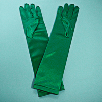 Long Satin Stretch Gloves for Children, Ages 3-6