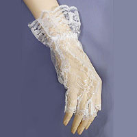 Half Fingered Lace Wrist Length