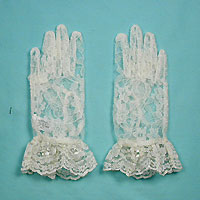 Lovery Lace Wrist Gloves With Ruffle for Ages 3-7
