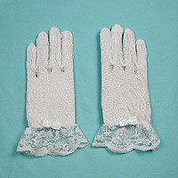Lace Wrist Gloves with Ruffle and Bow for Children Ages 0-3