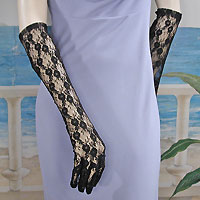 Above the Elbow Lace Gloves