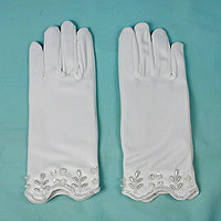 Satin Beaded and Sequined Gloves for Children Ages 4-7