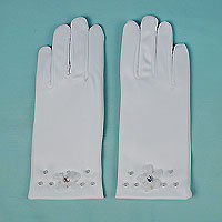 Small Gloves with Pearls and Rhinestone