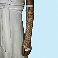Fingerless Elbow Length Crochet Fishnet Gloves