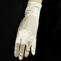 Wedding Ring Finger Embroidery Wrist Gloves