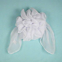 Large Full Puffy French Clip Chiffon Bow with Streamers