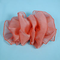 Large French Clip Puffy Chiffon Bow Hair Barrette