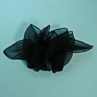 Small Puffy Chiffon Bow on French Clip Barrette