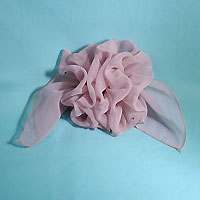 Extra Large French Clip Chiffon Hair Barrette Bow