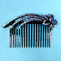 Shooting Star Crystal Rhinestone Comb