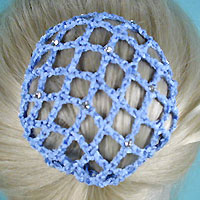 Crystal Rhinestone Studded Bun Snood