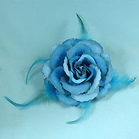 Large Rose Flower Hair Clip