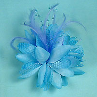 Large Ponytail Flower and Feather Holder