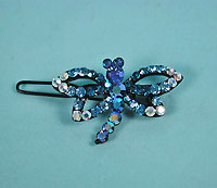 Crystal Rhinestone Dragon Fly Barrettes