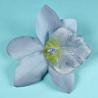 Large Fabric Orchid Flower Clip