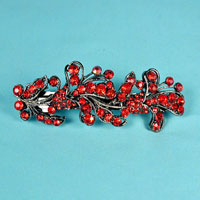 Large Crystal Rhinestone Barrette