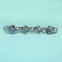 Long Crystal Rhinestone Barrette