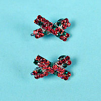 Set of Two Tiny Cross Barrette