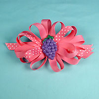 Ribbon Bow with Fruit Ornament