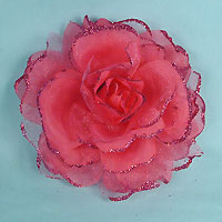 Rose Hair Clip with Ponytail Band and Pin