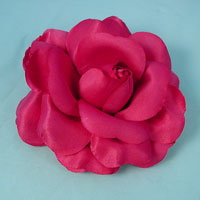 Large Rose Hair Flower with Clip, Pin and Ponytail Elastic