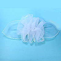 Extra Large French Organza Bows Hair Barrettes