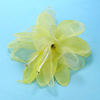 Chiffon, Net, Feather and Glitter Hair Clip