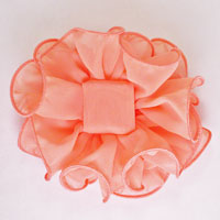 4-1/2 to 5 Inch Medium Ruffled Chiffon Claw Clip Bow