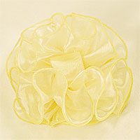 Large Puffy Ruffled Organza Hair Bow Clip Claw