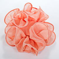Wide Tooth Ruffled Organza/Chiffon Hair Bow