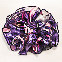 Large Satin Chiffon Print Jaw Clip Claw Bows