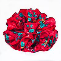 Holy Candy CAne Christmas Satin Chiffon Jaw Clip Claw Hair Bows