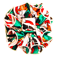 Puppies and Kitties Christmas Claw Jaw Clip Ruffled Bows