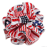 American Flage Clip Claw Jaw Bow in Satin & Chiffon