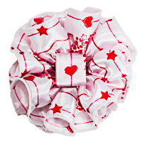 Heart Clip Claw Jaw Bows Large Satin Chiffon