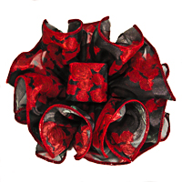 Flower Clip Claw Jaw Bows Large Satin Chiffon